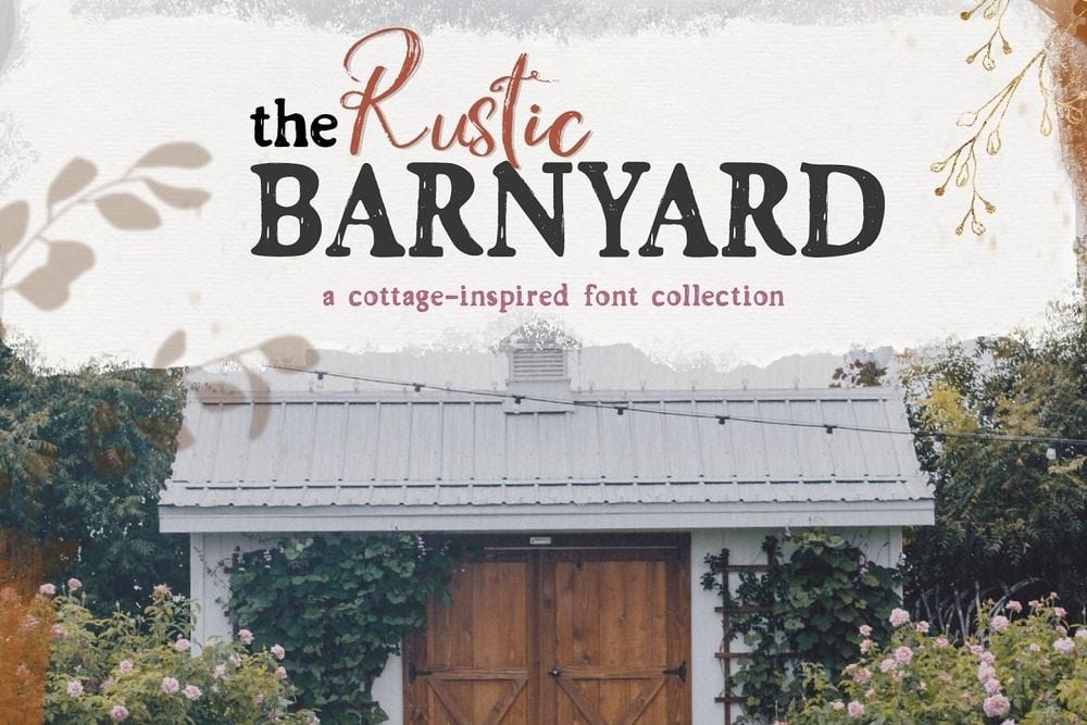 Rustic Barnyard font