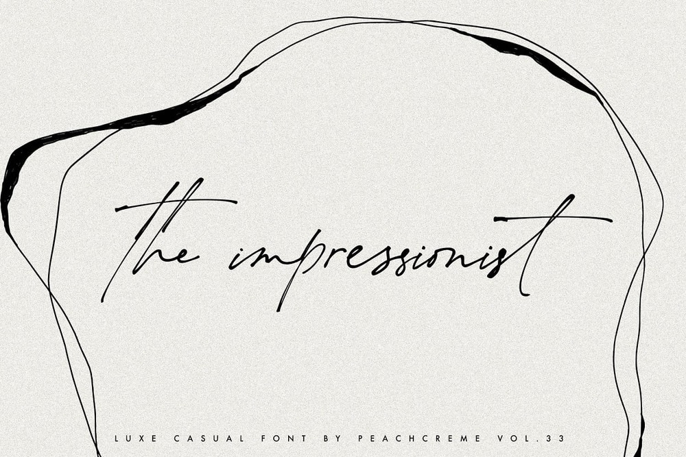 The Impressionist Font