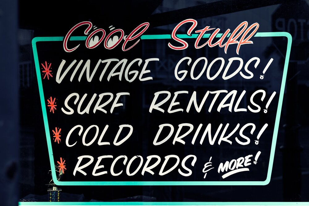 Vintage Style Font Example