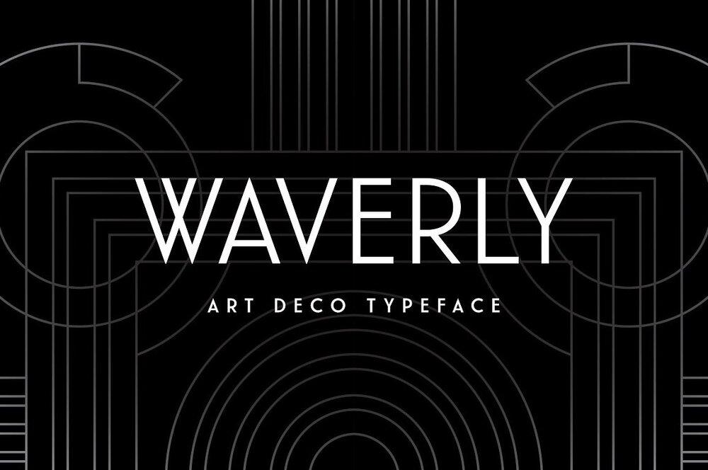 Waverly font