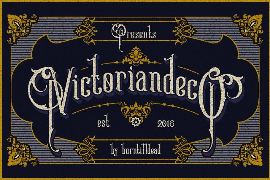 Victoriandeco 1800s Font