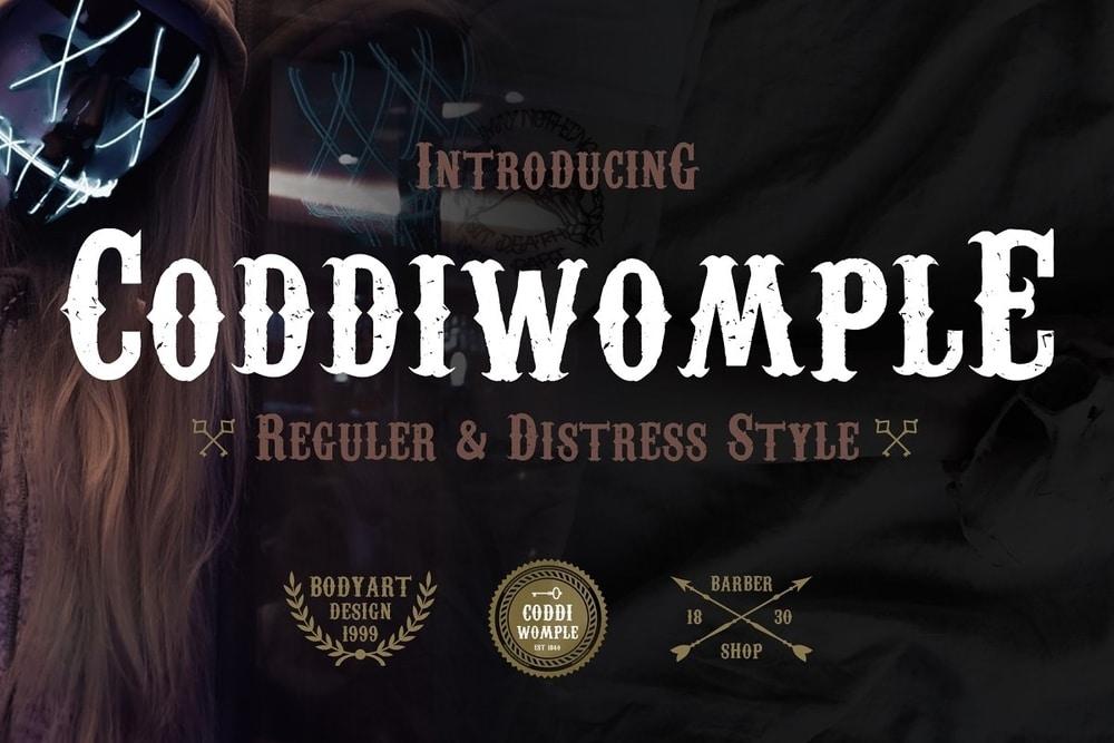 Coddiwomple Western Font