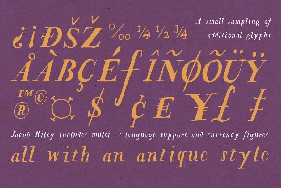 Jacob Riley typeface example
