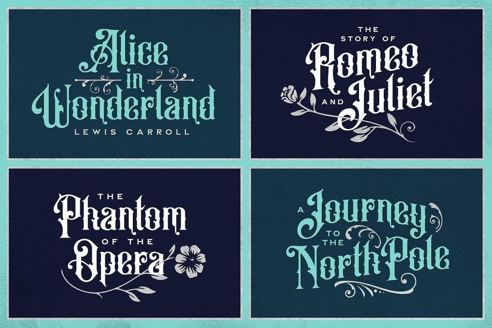 Old Alfie typeface example