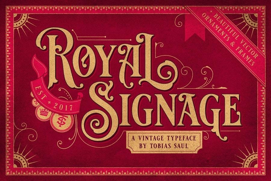 Royal Signage Victorian Script