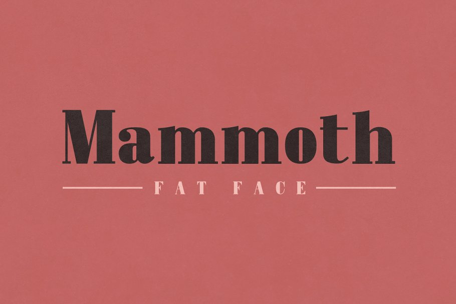 Iconic Victorian Era Fat Face Font