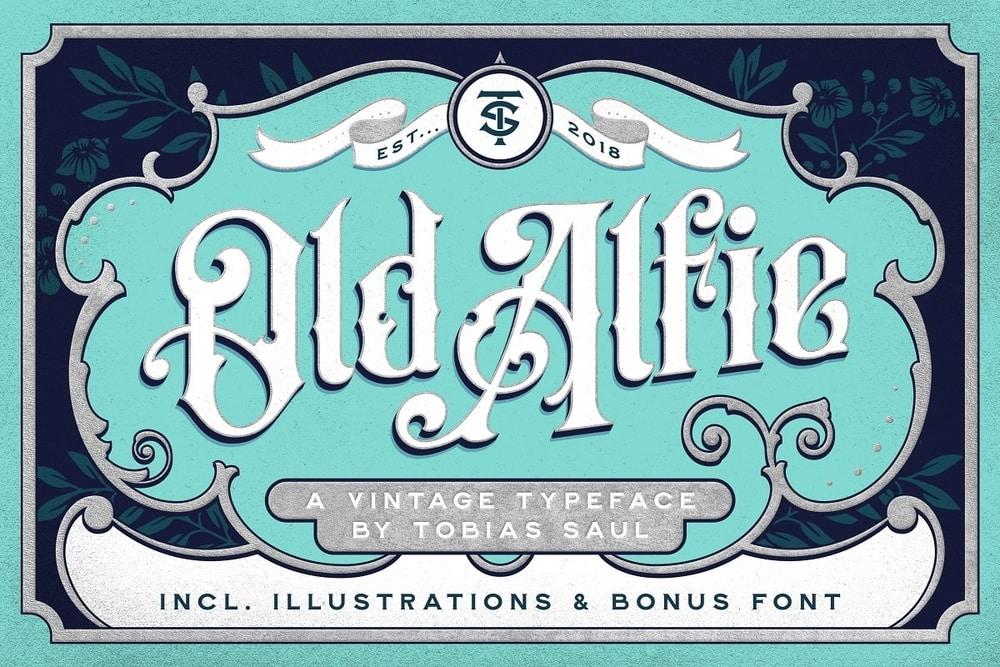 Old Alfie Decorative Victorian Logo Font