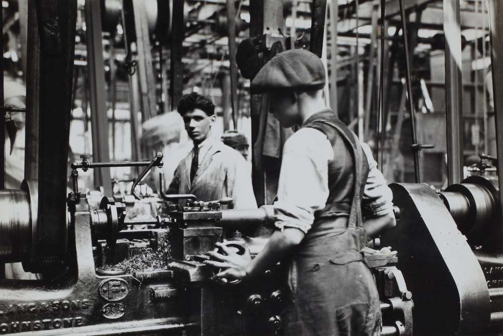 Children working in a Victorian-Era factory