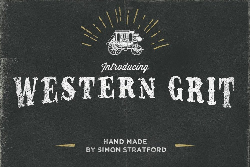 Western Grit Country Font