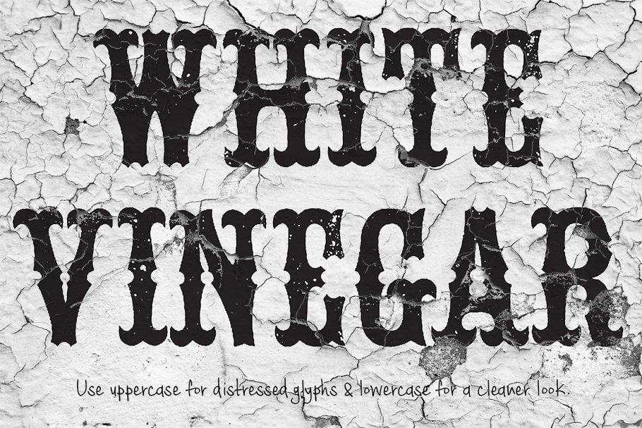 White Vinegar Saloon Font