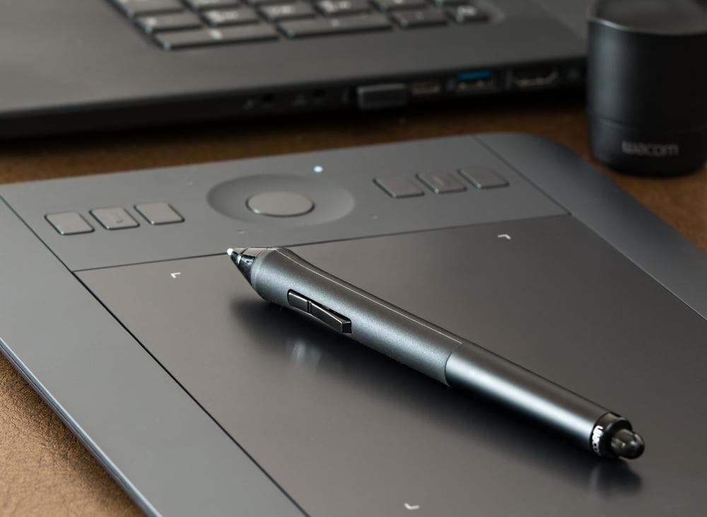 Closeup of a digital notepad
