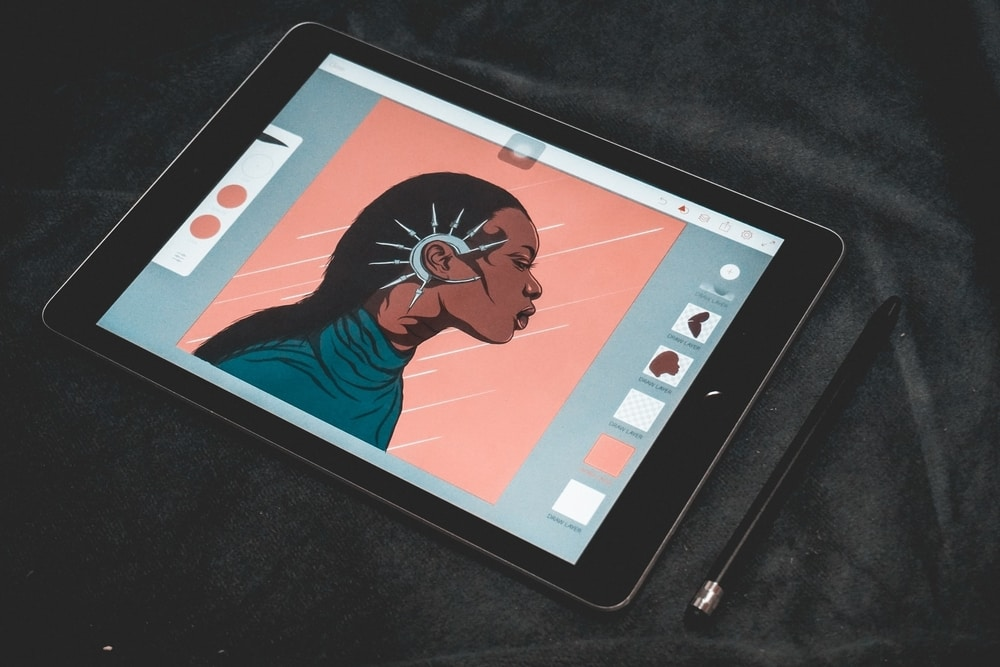 Animation on drawing tablet