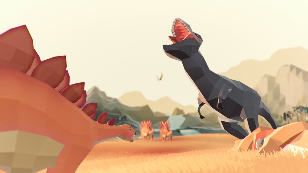 dinosaurs low poly