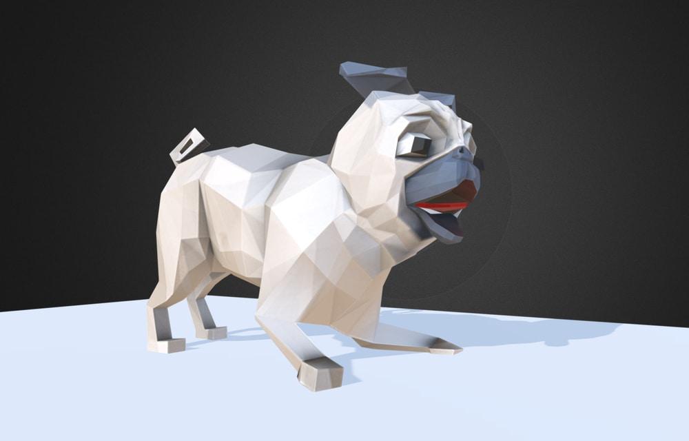 low poly pug