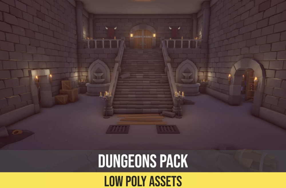 Low Poly Assets Dungeon