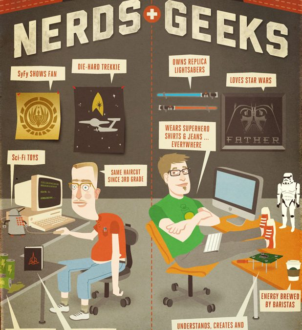 The difference between Nerds and Geeks